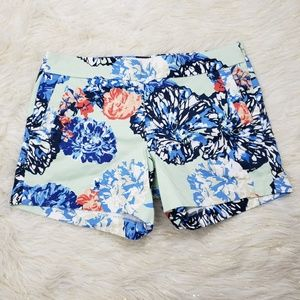 J. Crew Stretch Floral Cargo Shorts